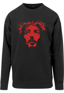 Mens THE SAVIOUR Sweatshirt (Black with Red)