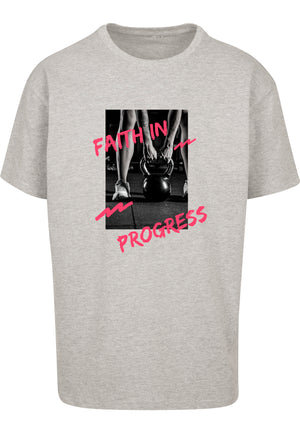 UNISEX FAITH IN PROGRESS OVERSIZE T-SHIRT (GREY)