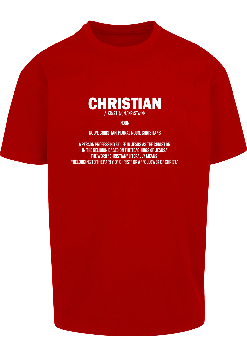 DEFINE CHRISTIAN Unisex Oversized T-Shirt (Red)
