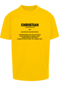 DEFINE CHRISTIAN Unisex Oversized T-Shirt (Yellow)
