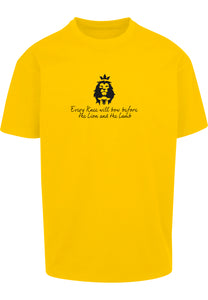 LION AND LAMB Unisex Oversized T-Shirt (Yellow)