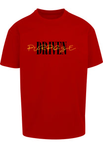 PURPOSE DRIVEN Unisex Oversized T-Shirt (RED)
