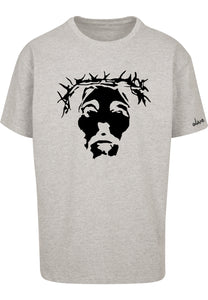 THE SAVIOUR Oversized T-Shirt (Grey with Black)