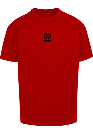 TRUST GOD Unisex Oversized T-Shirt (Red)