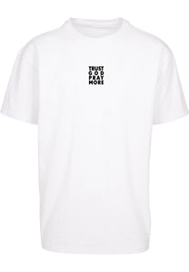 TRUST GOD Unisex Oversized T-Shirt (White)