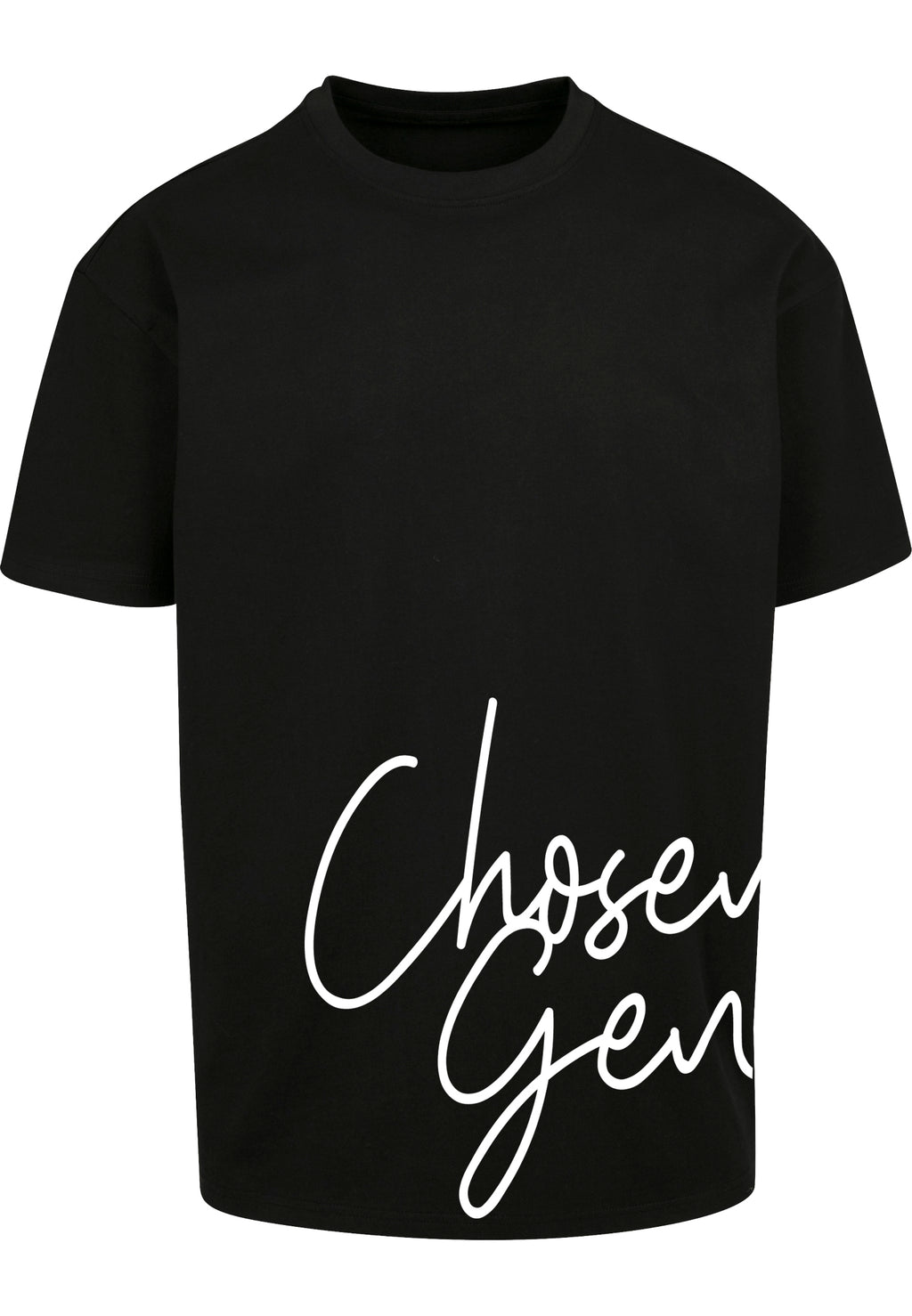 CHOSEN GEN Unisex Oversized T-Shirt (Black)