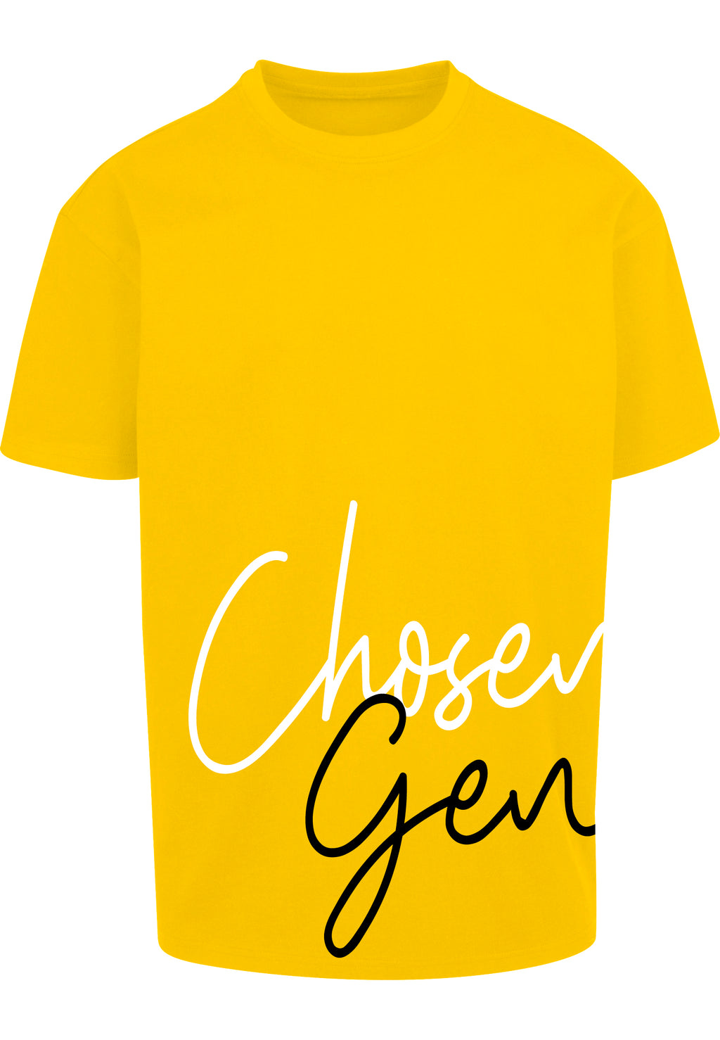 CHOSEN GEN Unisex Oversized T-Shirt (Yellow 2T)