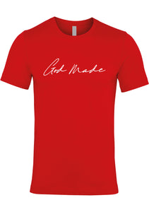 GOD MADE Unisex Jersey crew neck t-shirt (Red)