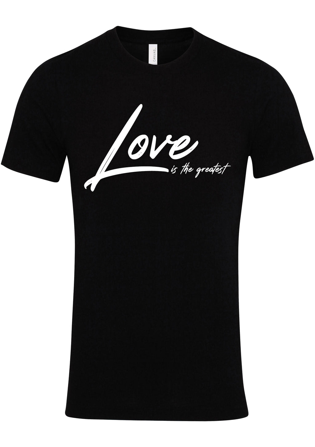LOVE TG Unisex Jersey crew neck t-shirt (Black)