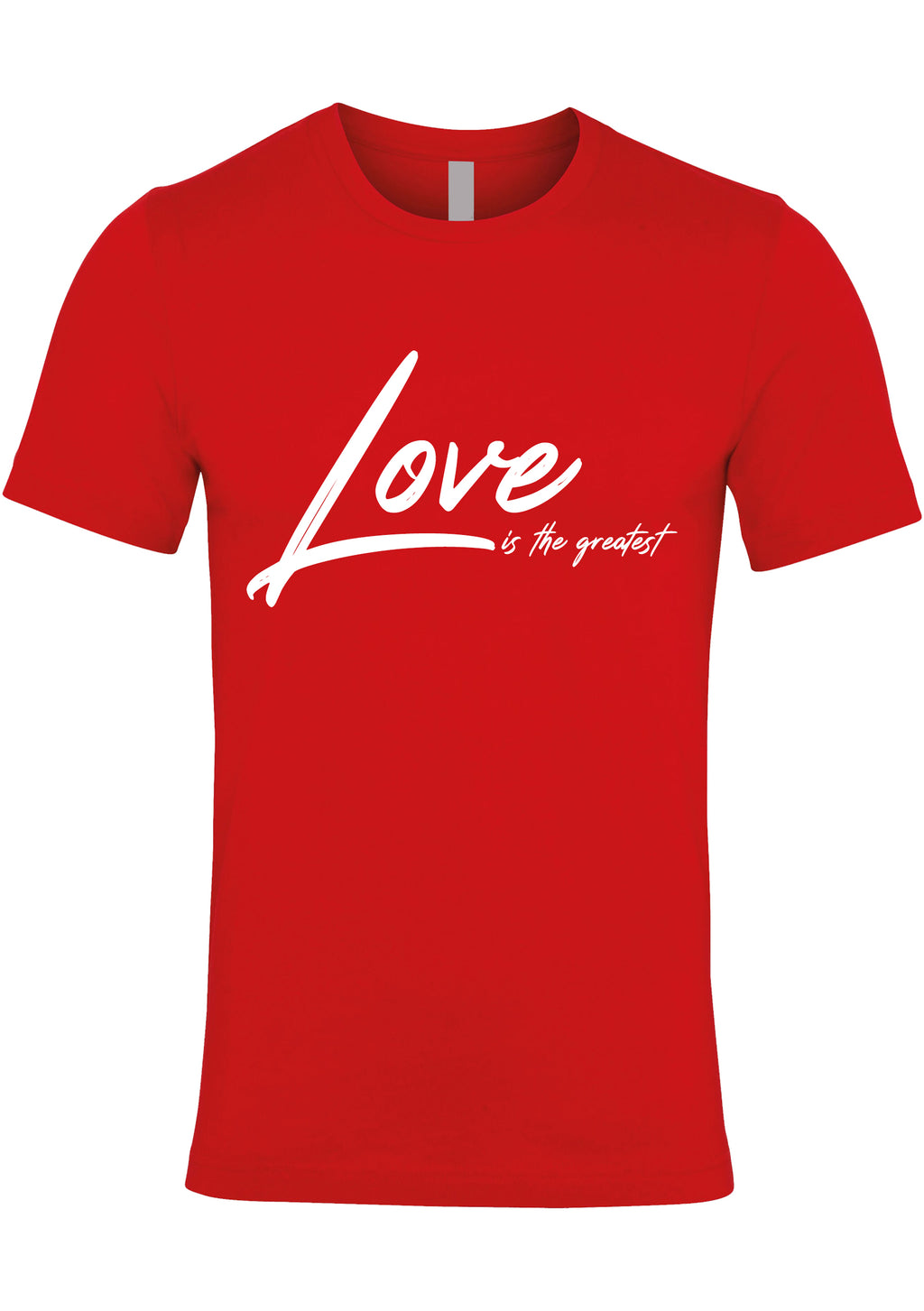 LOVE TG Unisex Jersey crew neck t-shirt (Red)