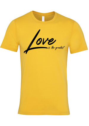 LOVE TG Unisex Jersey crew neck t-shirt (Yellow)