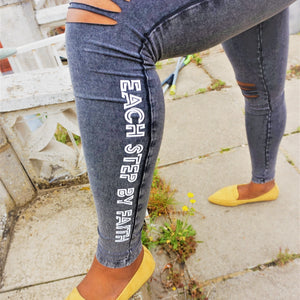Womens ESBF Cut Knee Leggings