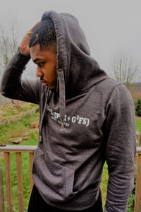 SPIRIT EQUATION Chunky Cross Neck Hoodie (Charcoal)