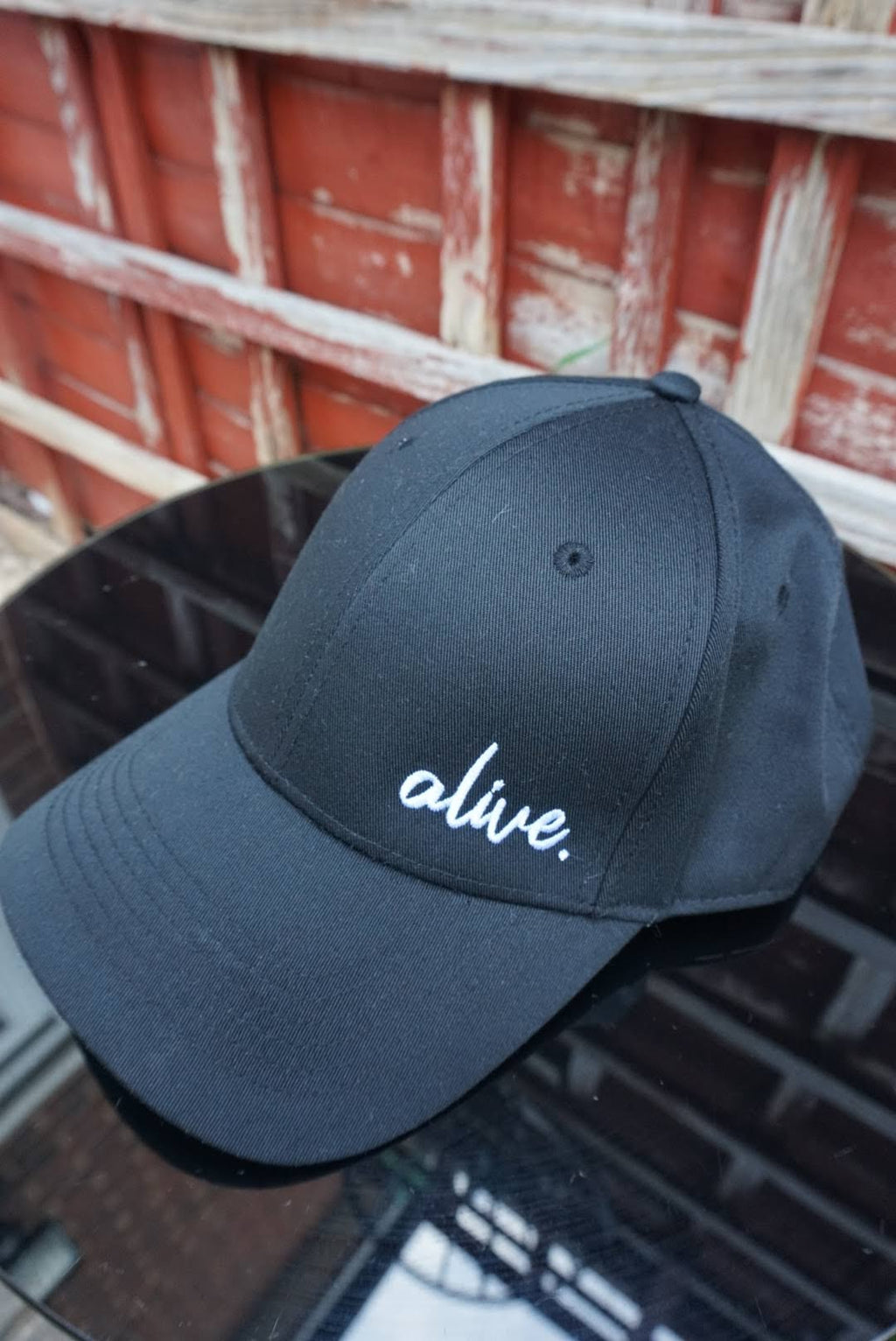 ALIVE 6 Panel Baseball Cap (Black)