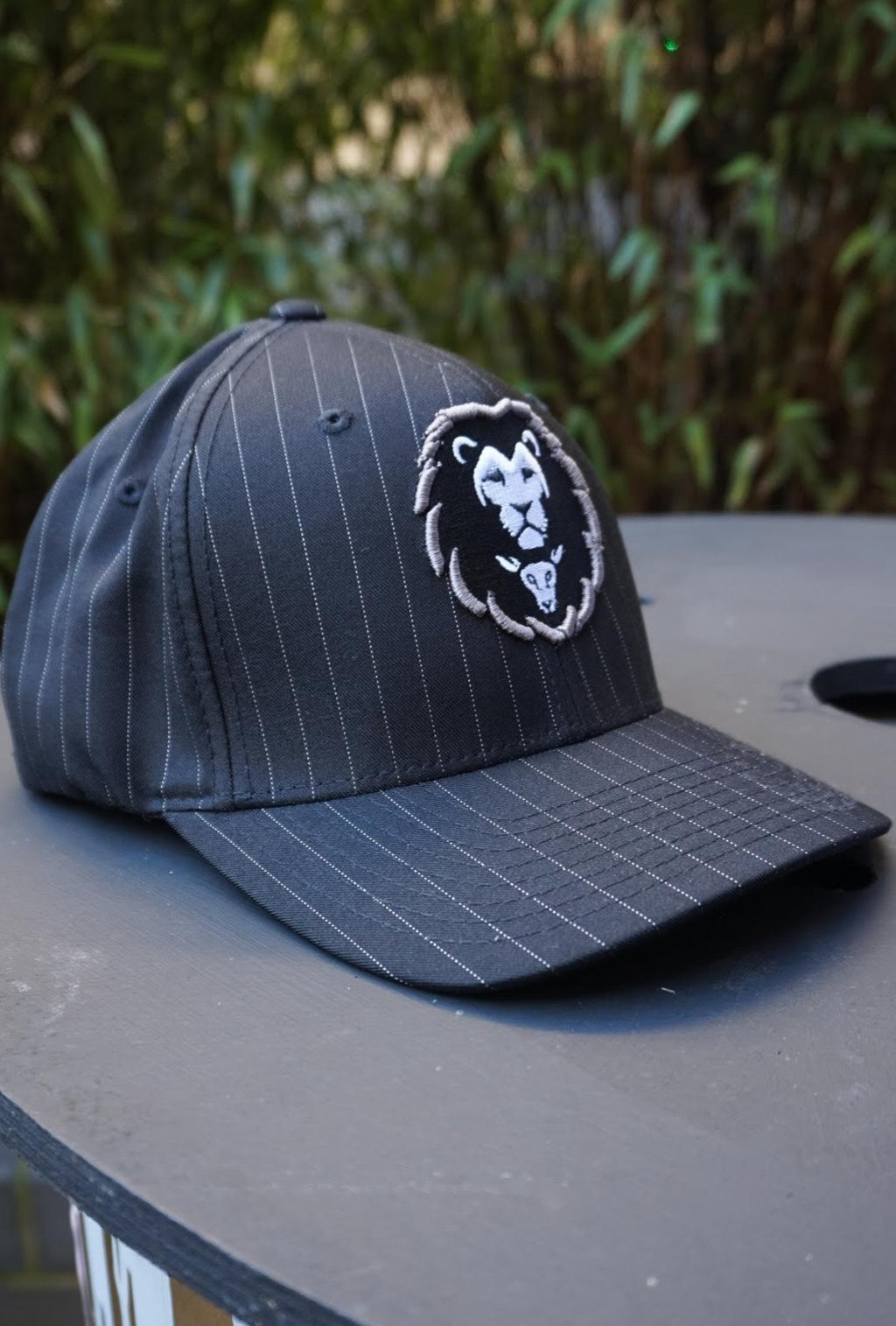 LION AND LAMB Pinstripe Snapback (Black)