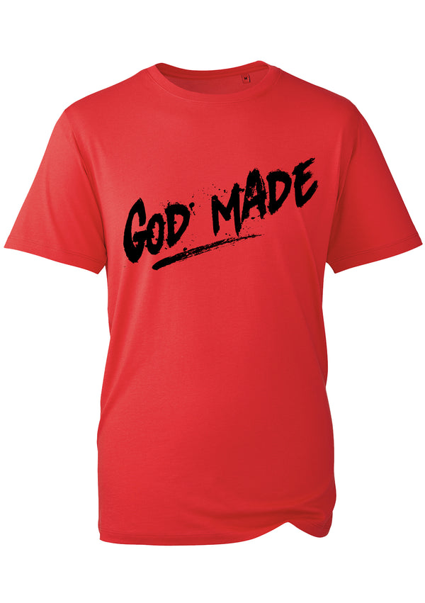 GOD MADE UNISEX RED T-SHIRT