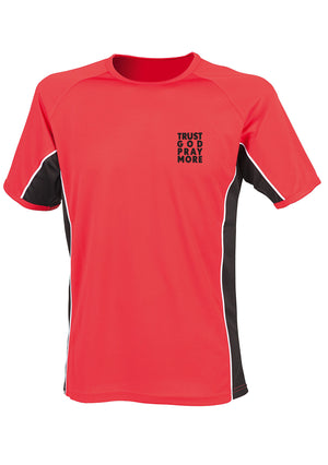 TRUST GOD PRAY MORE Unisex Performance panel t-shirt (Red)