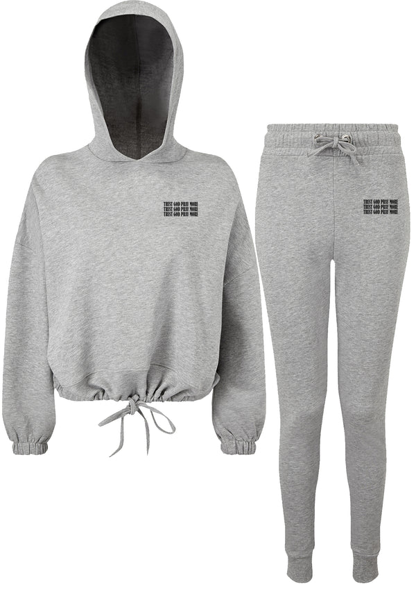 Women's Trust God Heather Grey Lounge Set