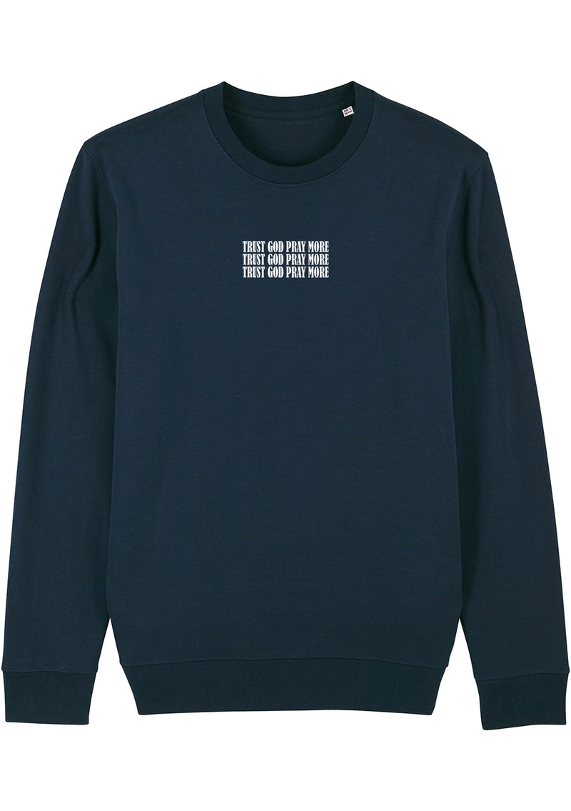 Unisex Navy Changer Trust God crew neck sweatshirt