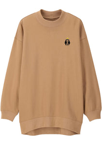 Unisex LION LAMB Mock Neck Relaxed Sweatshirt (Camel)