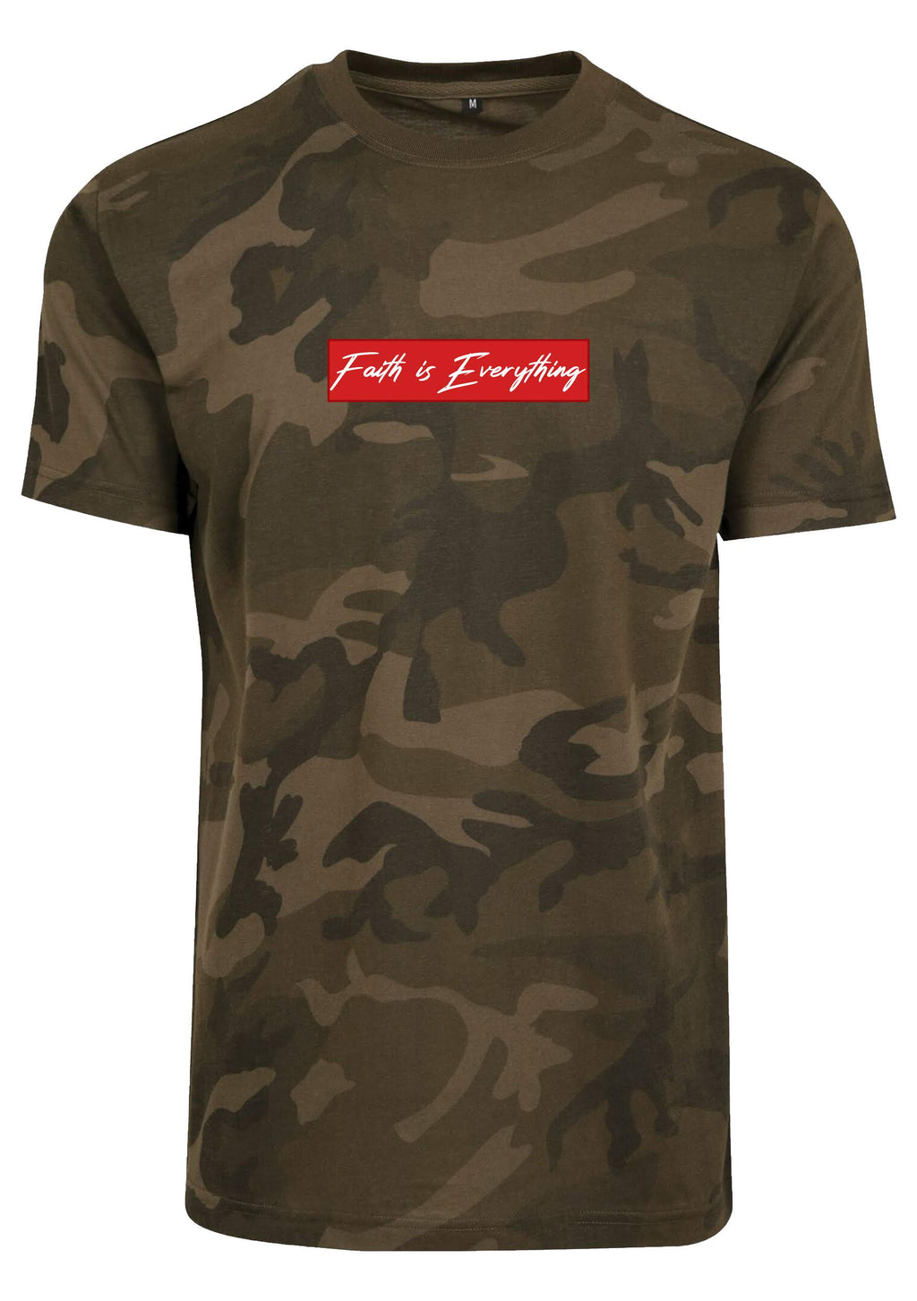 UNISEX FAITH IS EVERYTHING CAMO ROUND NECK T-SHIRT