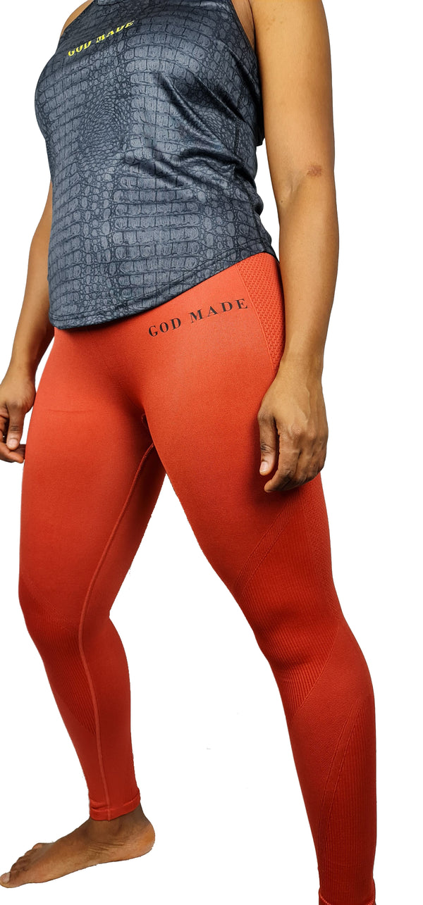 Women's God Made seamless '3D fit' multi-sport sculpt solid colour leggings