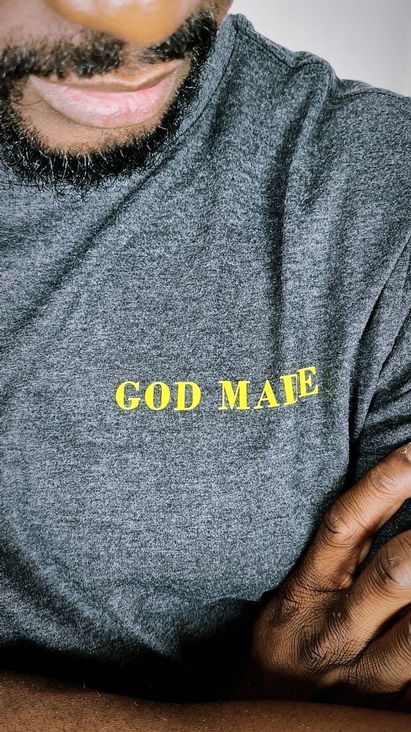 GOD MADE w/ print on back UNISEX T-SHIRT