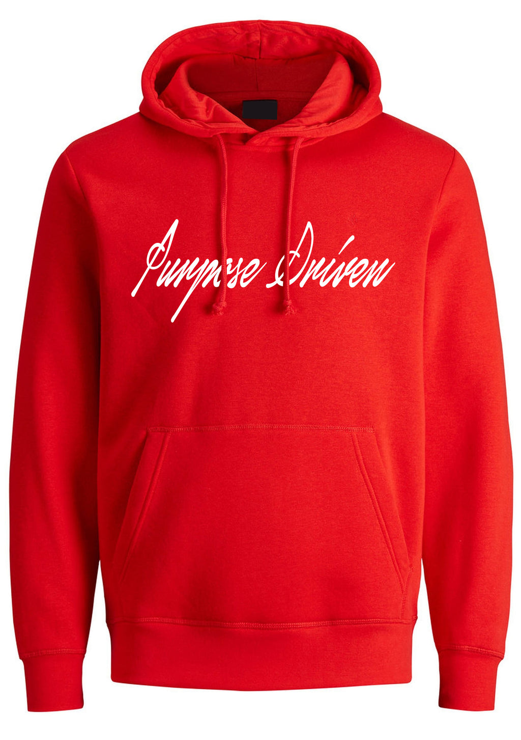 PURPOSE DRIVEN Unisex Oversized Hoodie (Red)