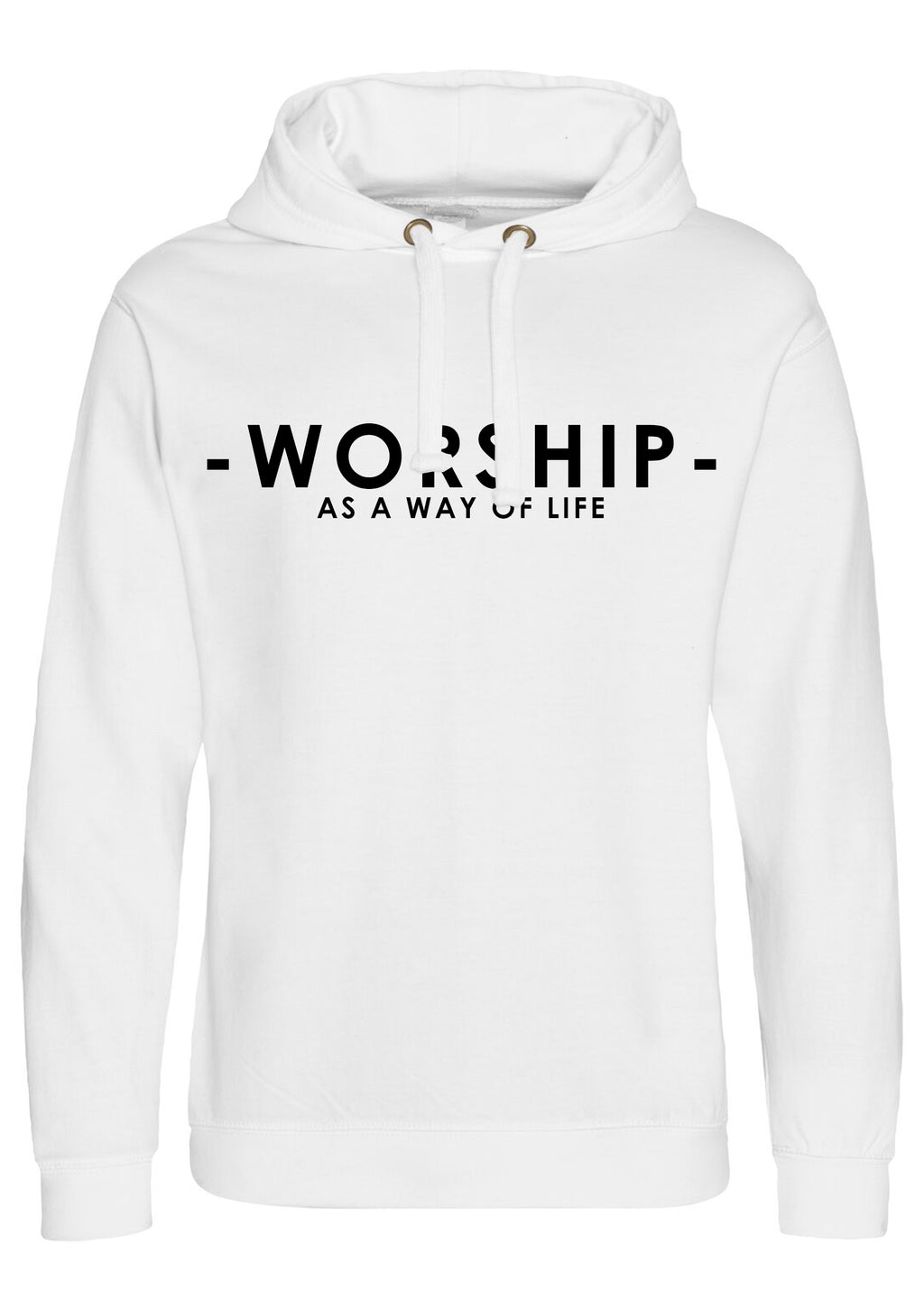 Women's WORSHIP Oversized Pullover Hoodie (White)