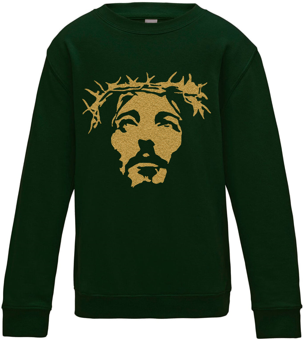 Kids THE SAVIOR Gold Christmas Sweatshirt