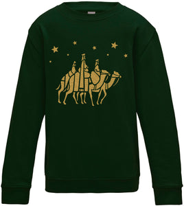 Kids WISE MEN Gold Christmas Sweatshirt