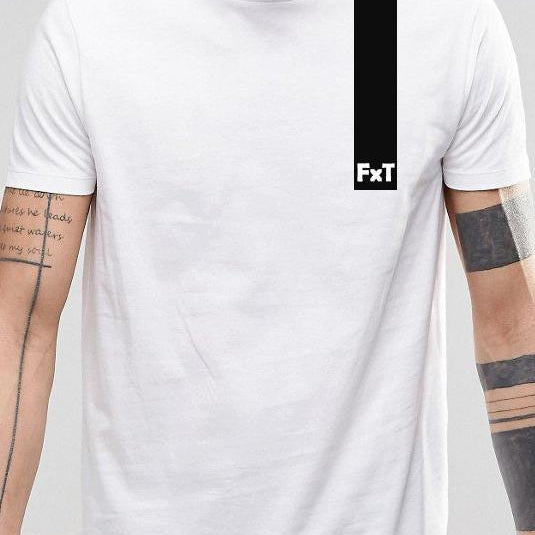 Mens FXT Longline t-shirt with dipped hem S/S