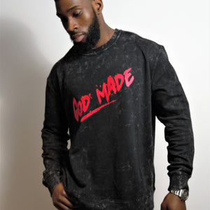 Mens God Made washed tour sweatshirt