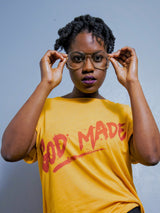 Women's GOD MADE T-Shirt (Yellow)