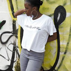 Womens I CAN DO ALL THINGS boxy Tee