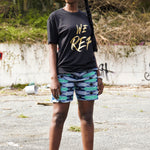 Womens We REP Longline t-shirt with dipped hem S/S