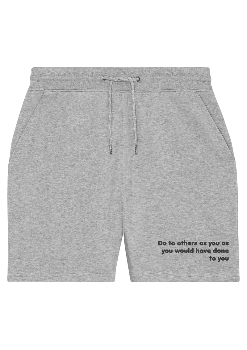 The Proverbs Unisex Heather Grey Terry Jogger Shorts