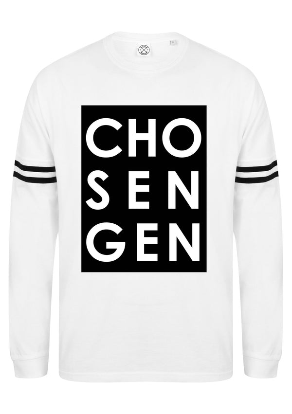 Unisex CHOSEN drop shoulder slogan top L/S