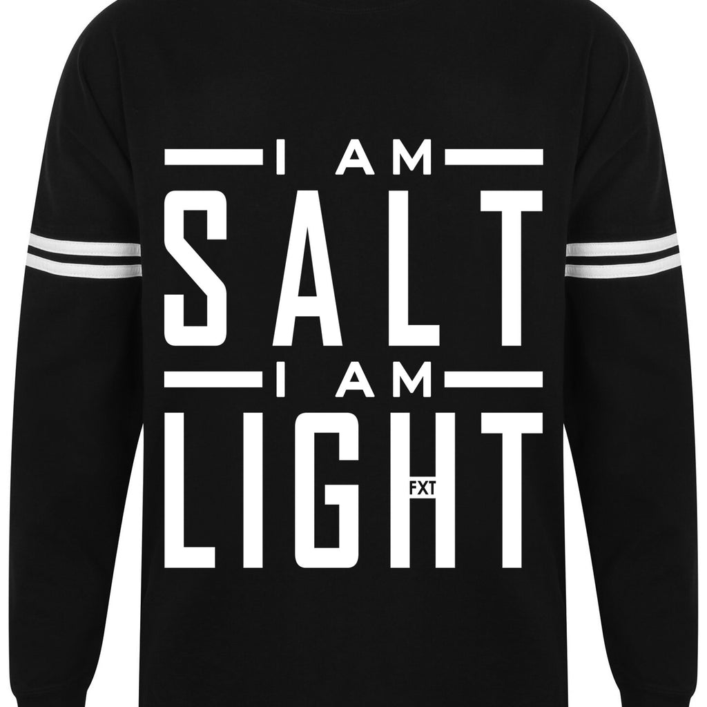 Kids I AM SALT drop shoulder slogan top
