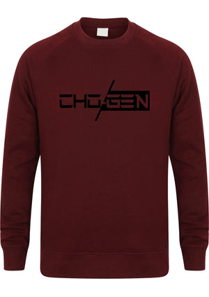 CHOGEN Unisex Slim Fit Sweatshirt (Burgundy)