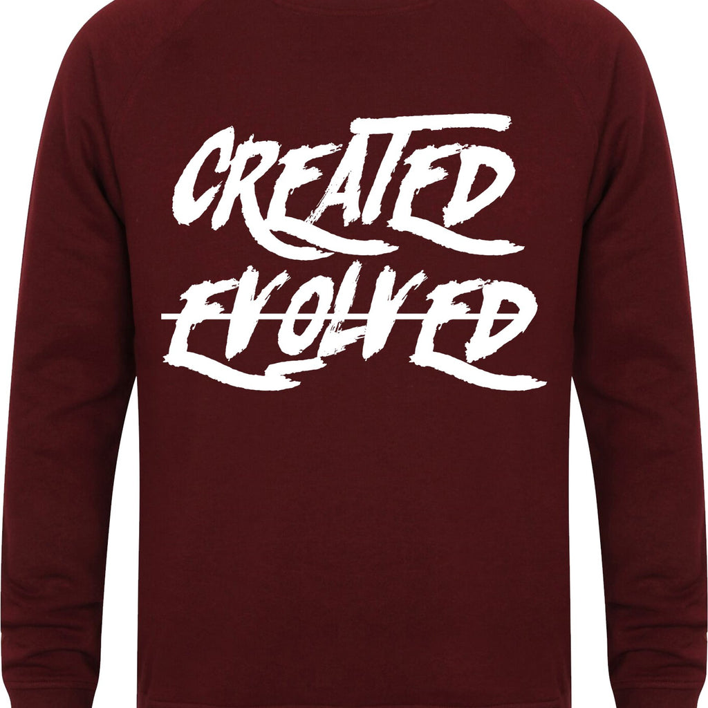 Mens CREATED NOT EVOLVED Slim Fit Sweatshirt