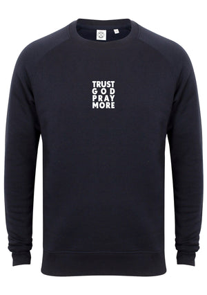 TRUST GOD Unisex Slim Fit Sweatshirt (Navy)