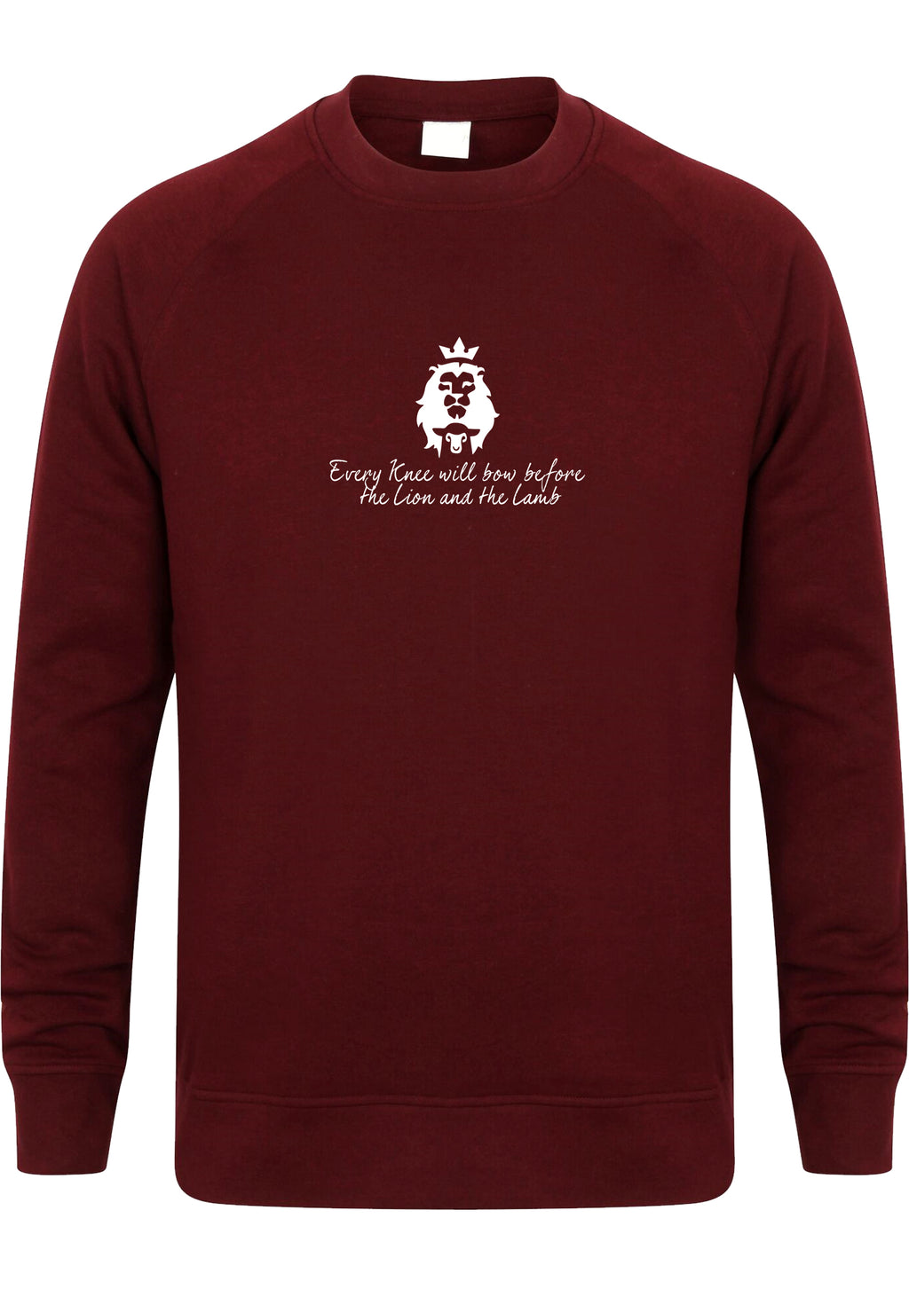 LION AND LAMB Unisex Slim Fit Sweatshirt (Burgundy)