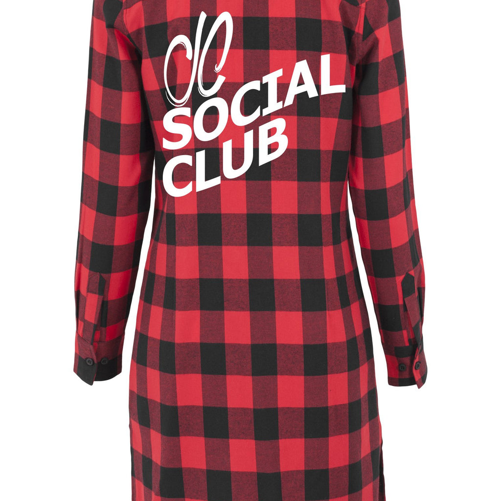 Womens JCSC Flannel Shirt Dress