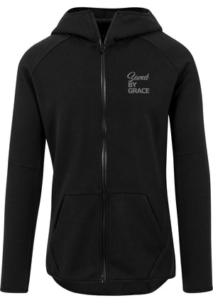 SBG Athletic high neck interlock Zip Hoodie (Black)