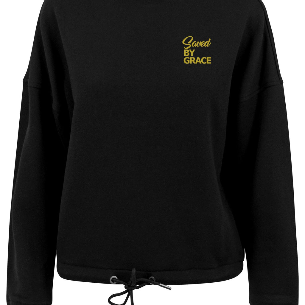 Womens SBG oversized crew neck sweatshirt (Black)