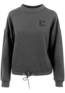 Womens SBG oversized crew neck sweatshirt (Charcoal)