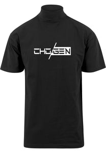 CHOGEN Mock Neck Oversized Tee (Black)