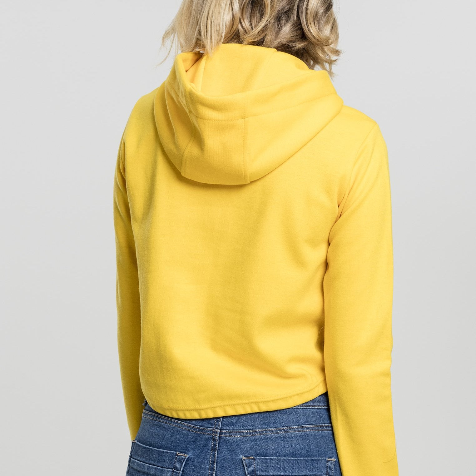 Womens Chosen Short Hoodie (Yellow)