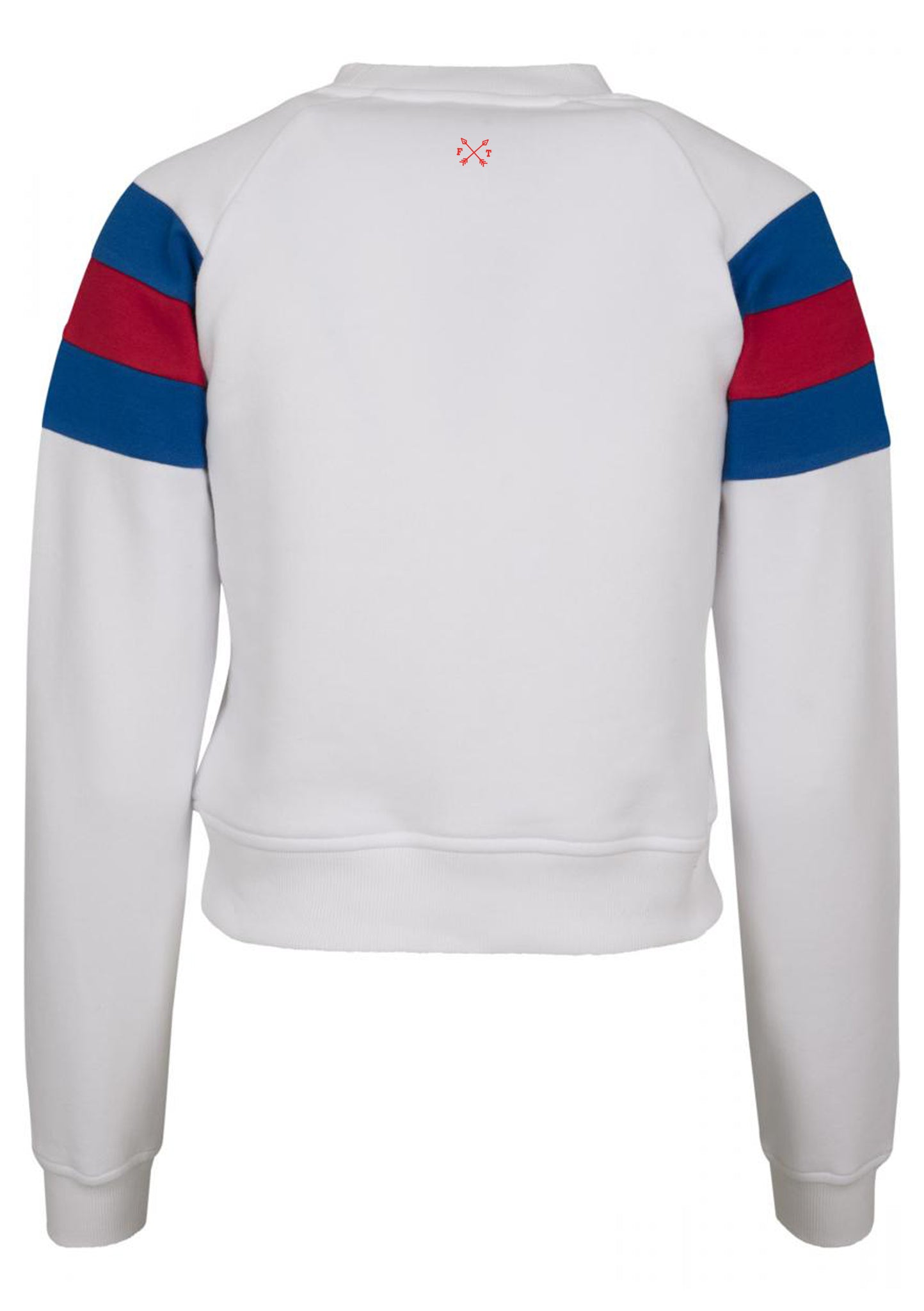Women's IGYB Stripe Sleeve Crew neck Sweater (White)